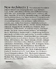 "NEW ARCHITECTS 3 ""BRITAIN'S BEST EMERGING ARCHITECTS"""
