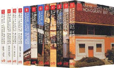 FRANK LLOYD WRIGHT MONOGRAPHS  12 VOL.